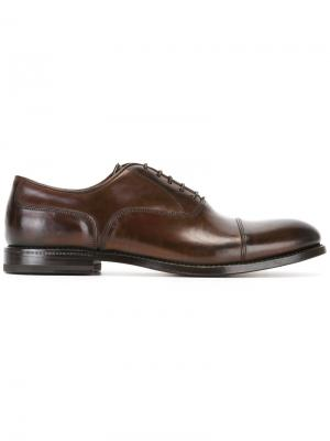Классические туфли оксфорды W.Gibbs. Цвет: коричневый