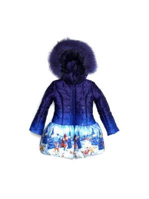 Куртка Stilnyashka. Цвет: темно-синий, синий, белый