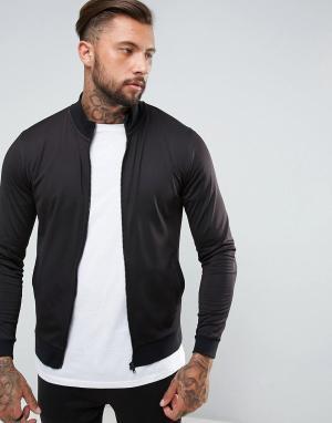 ASOS Спортивная куртка в стиле ретро. Цвет: черный