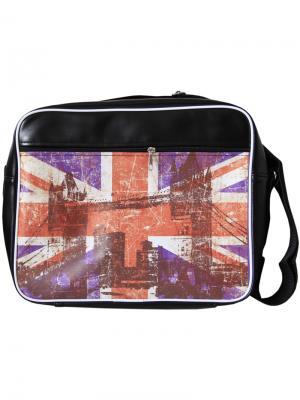 Молодежная сумка через плечо ПодЪполье. Цвет: фиолетовый, красный, белый, бордовый