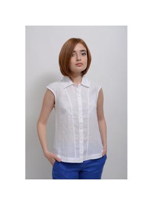 Блуза Таис LINO RUSSO. Цвет: белый