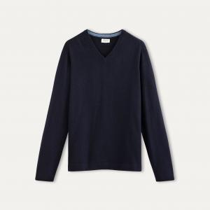 Пуловер из шерсти и кашемира HARTFORD. Цвет: темно-синий