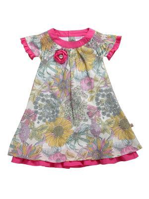 Платье Sweet Berry. Цвет: зеленый, розовый, желтый