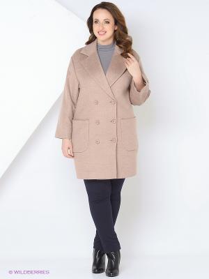 Пальто RUXARA. Цвет: бледно-розовый