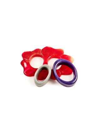 Пряжка Волшебная пуговица Лилия и кольцо для шарфа madam Пряжкина. Цвет: серый, бордовый, темно-фиолетовый