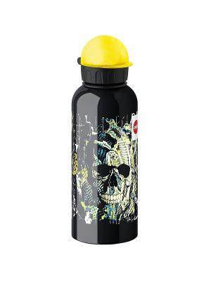 Бутылка EMSA TEENS Skull с крышкой 0.6л 514406. Цвет: черный