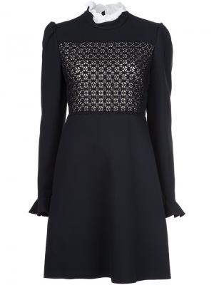 Платье мини Giambattista Valli. Цвет: чёрный
