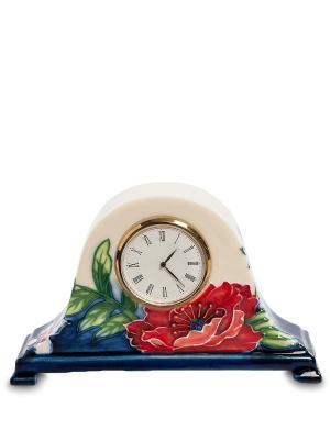Часы Цветущий сад (Pavone) Pavone. Цвет: бежевый, голубой, красный