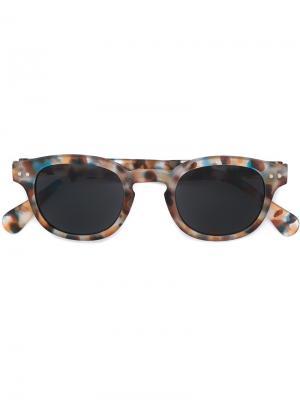 Солнцезащитные очки See Concept. Цвет: синий