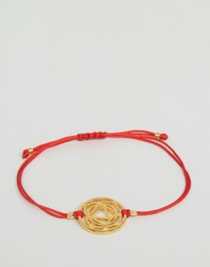 Ottoman Hands Браслет-шнурок Root Chakara. Цвет: золотой
