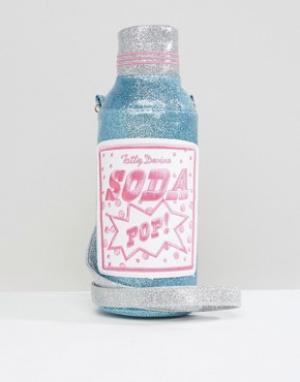 Tatty Devine Бутылка для воды и чехол с надписью Soda Pop. Цвет: мульти