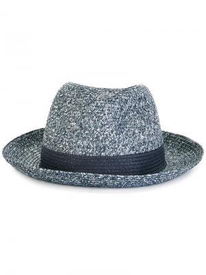 Шляпа с лентой Hackett. Цвет: синий