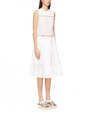 Однотонное платье J Koo. Цвет: белый