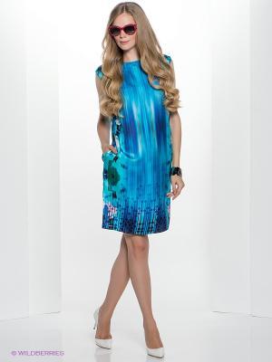 Платье Henry Cotton's. Цвет: бирюзовый, синий