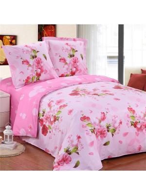 Постельное белье Buket 2,0 сп.Euro Amore Mio. Цвет: розовый