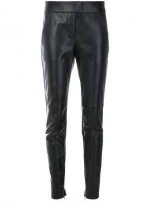 Приталенные байкерские леггинсы Givenchy. Цвет: чёрный