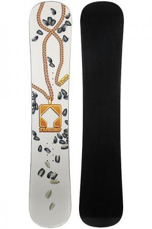 Сноуборд  Semki White/Black/Gold Turbo-FB. Цвет: мультиколор,белый