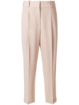 Классические брюки Bottega Veneta. Цвет: телесный