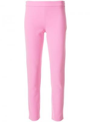 Укороченные брюки с завышенной талией Moschino. Цвет: розовый и фиолетовый