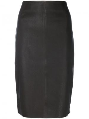 Fitted skirt Iris Von Arnim. Цвет: коричневый