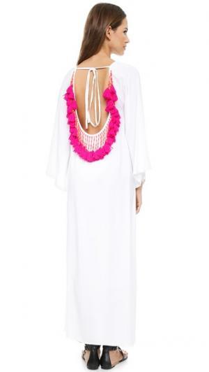 Длинное пляжное платье Alaia SUNDRESS. Цвет: розовый