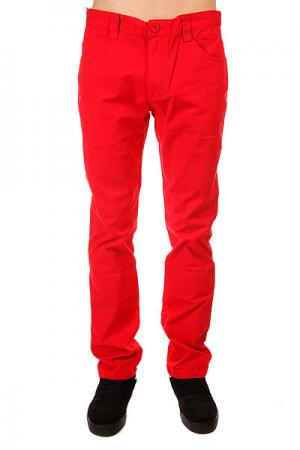 Штаны прямые  5 Pocket Pants Red Urban Classics. Цвет: красный