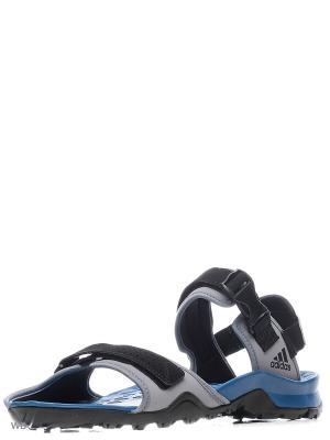Сандалии Cyprex Ultra Sandal Grey/Cblack/Corblu Adidas. Цвет: черный
