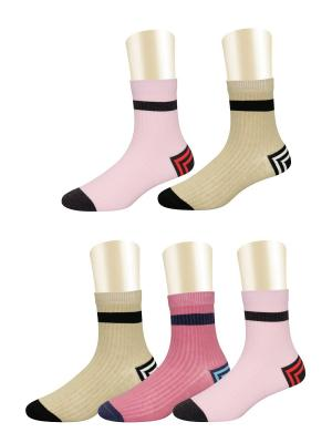 Носки, 5 пар Glamuriki. Цвет: бежевый, коралловый, розовый