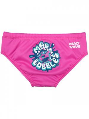 Трусы для плавания MAD BUBBLES Wave. Цвет: синий, белый, розовый