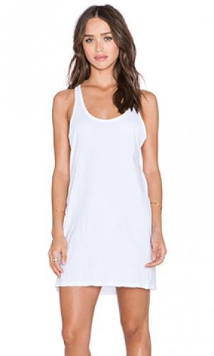 Платье-майка brandie une. Цвет: белый