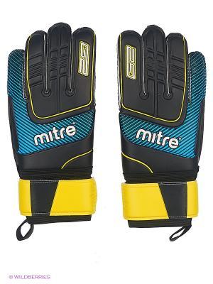 Перчатки вратарские MITRE Anza G2 Durable взрослые. Цвет: черный, синий, желтый