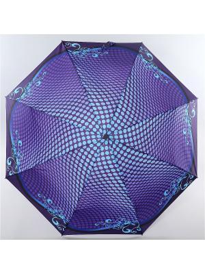 Зонт Zest, 3 слож, ПолнАвто, П-Э Zest. Цвет: синий, серо-голубой