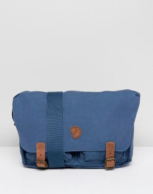 Fjallraven Темно-синяя сумка почтальона Ovik. Цвет: темно-синий