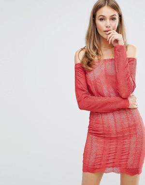 Keepsake Кружевное платье Think Twice. Цвет: красный