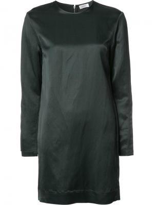Платье шифт с шлицами на рукавах Nomia. Цвет: чёрный