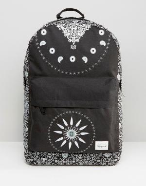 Spiral Черный рюкзак Bandana. Цвет: черный