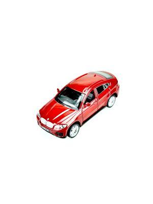 Машинка инерционная, металл, BMW X6, 1:43, красный Blue Sea. Цвет: красный
