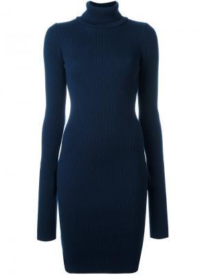 Трикотажное платье с высоким горлом Jacquemus. Цвет: синий