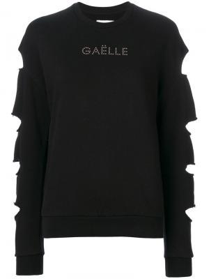 Джемпер с длинными рукавами и вырезами Gaelle Bonheur. Цвет: чёрный