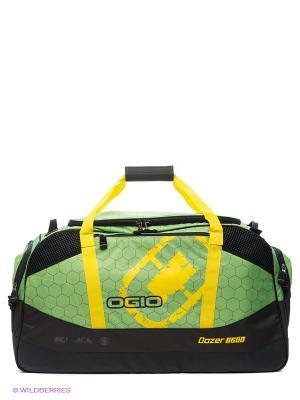 Сумка Dozer 8600 Green Hive Ogio. Цвет: зеленый, желтый