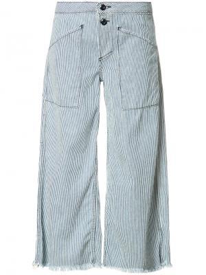 Широкие джинсы в полоску NSF. Цвет: синий