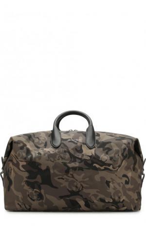 Текстильная дорожная сумка с плечевым ремнем Alexander McQueen. Цвет: зеленый