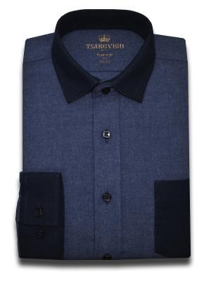 Рубашка Tsarevich. Цвет: темно-синий