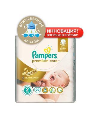 Подгузники Pampers Premium Care 3-6 кг, 2 размер, 22 шт. Цвет: белый