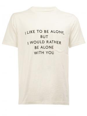 Printed T-shirt The Soloist. Цвет: белый