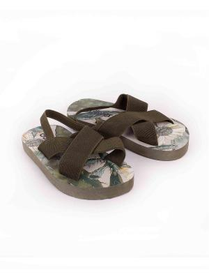 Обувь пляжная Gulliver. Цвет: оливковый