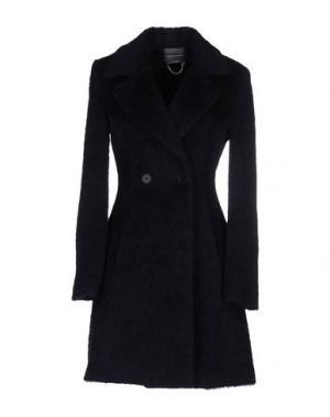 Пальто CARLA MONTANARINI. Цвет: темно-синий