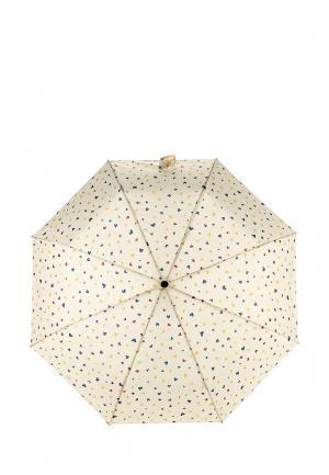 Зонт складной Kawaii Factory. Цвет: бежевый