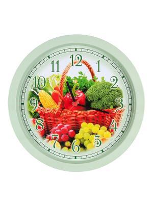 Часы настенные Овощи Miolla. Цвет: зеленый