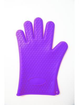 Перчатка 26х19см, силикон, 4 цвета Vetta. Цвет: фиолетовый